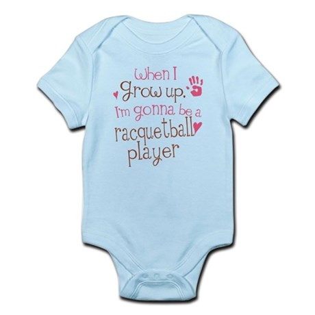 Kids Future Racquetball Player Infant Bodysuit