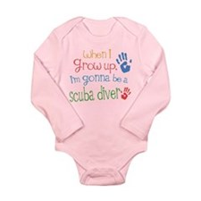 Future Scuba Diver Long Sleeve Infant Bodysuit