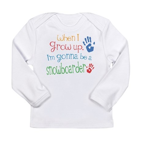 Kids Future Snowboarder Long Sleeve Infant T-Shirt