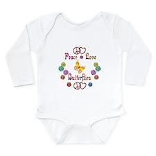 Peace Love Butterflies Long Sleeve Infant Bodysuit