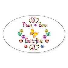 Peace Love Butterflies Decal