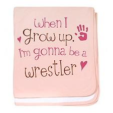 Kids Future Wrestler baby blanket