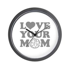 Love your Mom Wall Clock