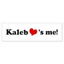 Kaleb loves me Bumper Bumper Sticker