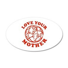 Love your Mother 38.5 x 24.5 Oval Wall Peel