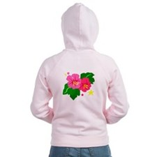 Tropical Flowers Zip Hoodie