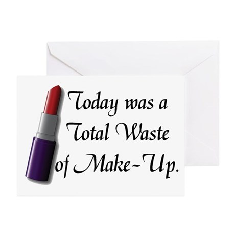Total Waste of Make-Up Greeting Cards (Pk of 20)