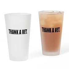 Thank a Vet Drinking Glass