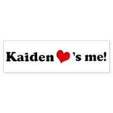 Kaiden loves me Bumper Bumper Sticker