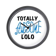 Totally Awesome Lolo Wall Clock