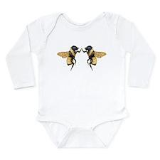 Dancing Bees Long Sleeve Infant Bodysuit