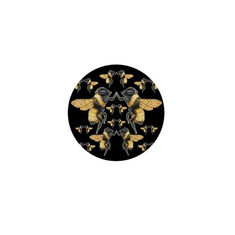 Dancing Bees Mini Button (100 pack)