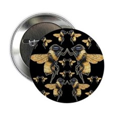 """Dancing Bees 2.25"""" Button"""