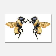 Dancing Bees Car Magnet 20 x 12