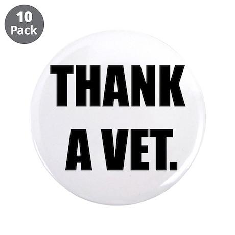 """Thank a Vet 3.5"""" Button (10 pack)"""