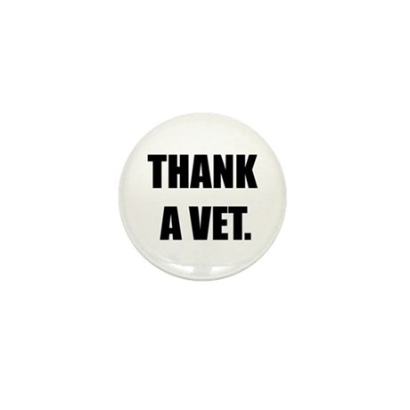 Thank a Vet Mini Button (10 pack)