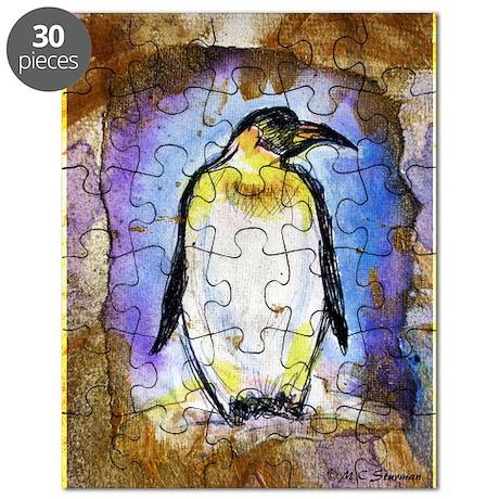 Penguin, wildlife, art, Puzzle