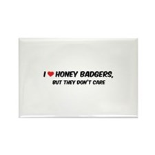 I Love Honey Badgers Rectangle Magnet (10 pack)