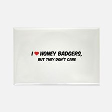 I Love Honey Badgers Rectangle Magnet (100 pack)