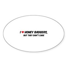 I Love Honey Badgers Decal