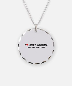 I Love Honey Badgers Necklace