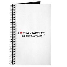 I Love Honey Badgers Journal