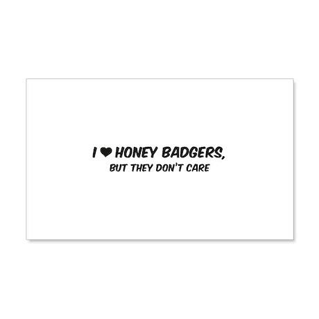 I Love Honey Badgers 22x14 Wall Peel