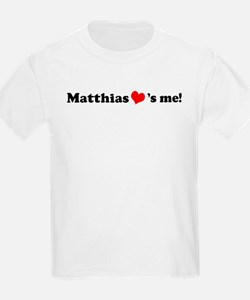Matthias loves me Kids T-Shirt