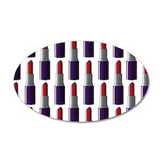 Lipstick 22x14 Oval Wall Peel