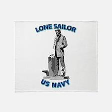 Navy - Lone Sailor - 3D Throw Blanket