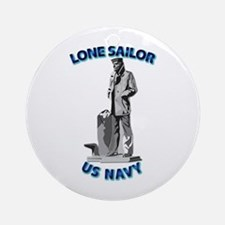 Navy - Lone Sailor - 3D Ornament (Round)