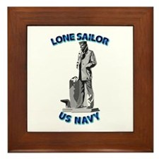 Navy - Lone Sailor - 3D Framed Tile