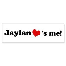 Jaylan loves me Bumper Car Sticker