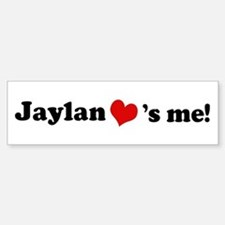 Jaylan loves me Bumper Car Car Sticker