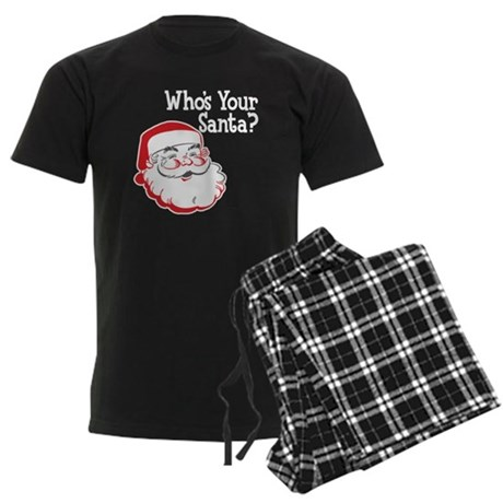 Who's Your Santa Men's Dark Pajamas