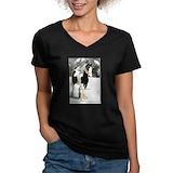 Gypsy vanner Womens V-Neck T-shirts (Dark)