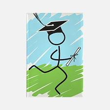 Graduate Runner Grass Rectangle Magnet (100 pack)