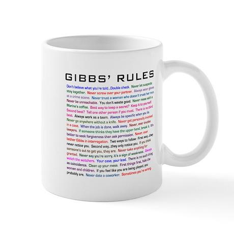 Ncis Gibbs' Rules Mug Mugs