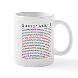 Gibbs rules Small Mugs (11 oz)