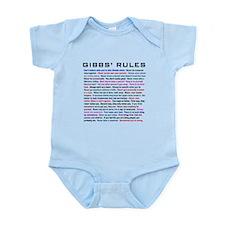 NCIS Gibbs' Rules Infant Bodysuit