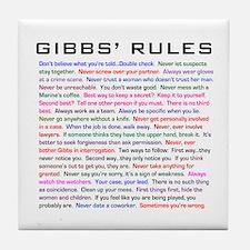 NCIS Gibbs' Rules Tile Coaster