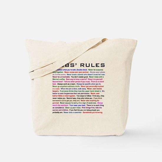 NCIS Gibbs' Rules Tote Bag