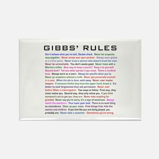 NCIS Gibbs' Rules Rectangle Magnet