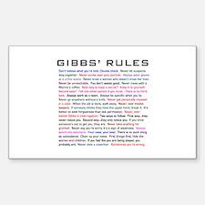 NCIS Gibbs' Rules Sticker (Rectangle)