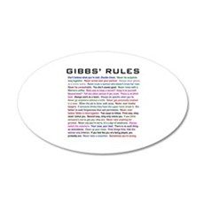 NCIS Gibbs' Rules 22x14 Oval Wall Peel