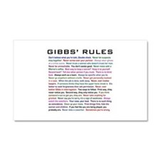 NCIS Gibbs' Rules Car Magnet 20 x 12