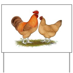 Lincolnshire Buff Chickens Yard Sign