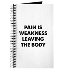 Pain is Weakness Leaving the Body Journal