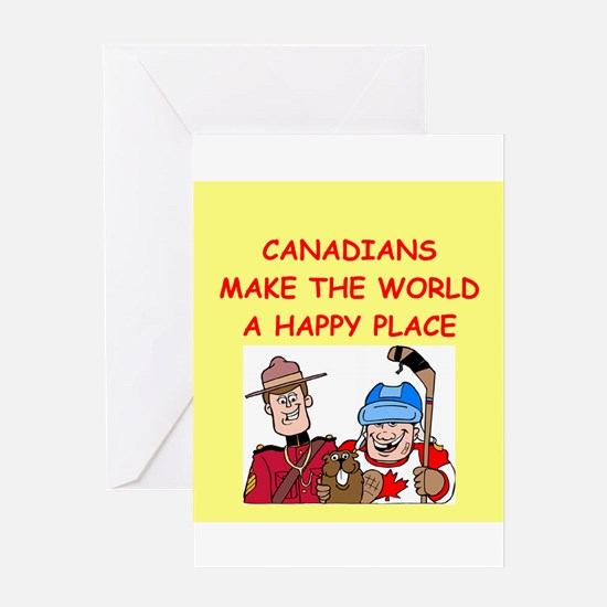 canadians Greeting Card