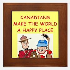 canadians Framed Tile